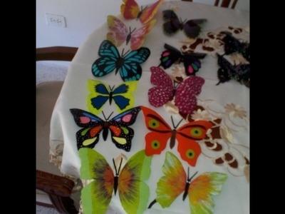 Mariposas multicolores - Reciclando botellas plásticas