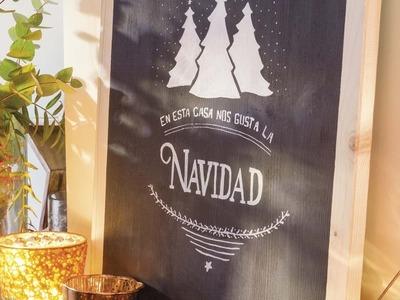 """Navidad DIY """"Cartel con mensaje navideño"""""""