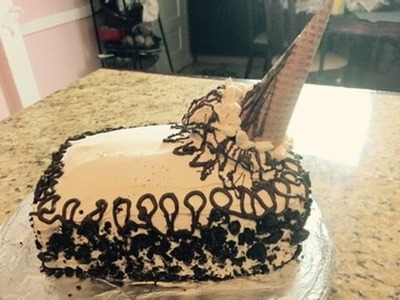 Pastel De Sandwich Helado  (Ice Cream Sandwich Cake)