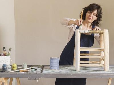 Pinta un taburete con chalk paint