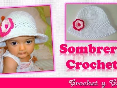 Sombrero crochet verano para niñas con flor 3D ???? ???? Parte 2