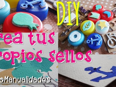 Tutorial crea tus propios SELLOS - Scrapbooking - Make your Stamps