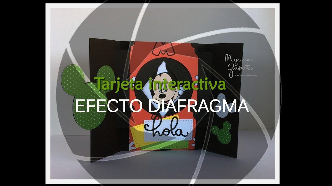 Tutorial de tarjeta interactiva, con efecto diafragma