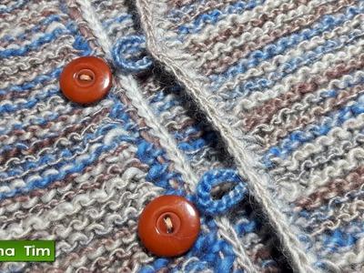Cómo hacer ojales. Tejer ojales a crochet # 594