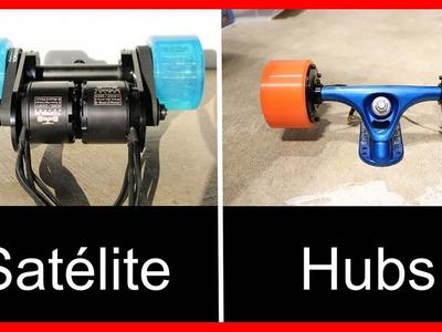 Comparativa entre motores satélite y hubs, cual es mejor para un longboard eléctrico? ????o?????