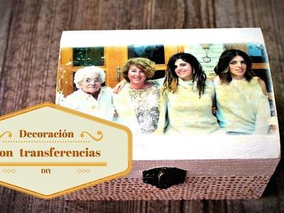 Decorando caja de madera con transferencia de foto - Regalo Día de la Madre