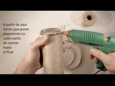 DIY Cómo hacer una botella rustica