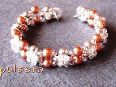 # - DIY - Pulsera de chafas y perlas # - DIY - Bracelet of beads and pearls