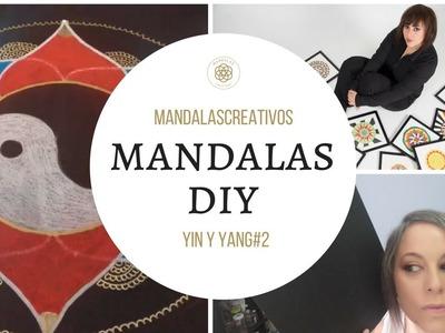 Mandala DIY: yin y yang#2