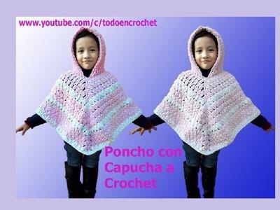 Poncho a crochet paso a paso #2