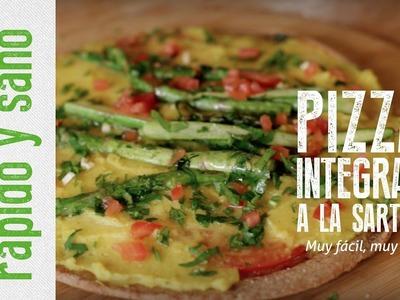 Rápido y Sano – Pizza integral a la sartén