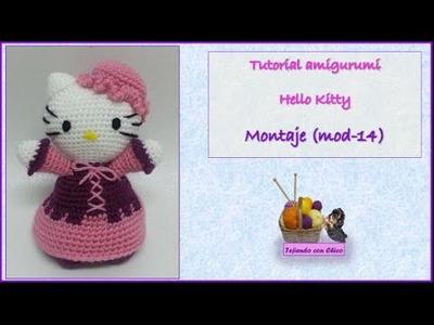 Tutorial amigurumi Hello Kitty - Montaje (mod-14)