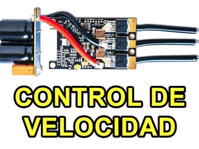 VESC controlador de velocidad para hacer un monopatín electrico