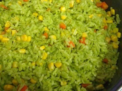 Receta de ARROZ VERDE, Receta # 109, como hacer arroz verde