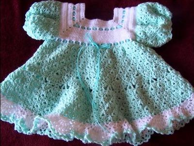 Vestidos de bebe tejidos en crochet parte 1 imagenes