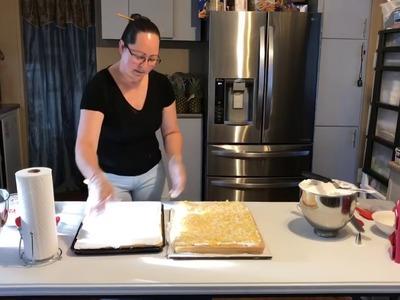 ARMANDO RELLENANDO Y DECORANDO UN CAKE. PASTEL. TORTA. BIZCOCHO