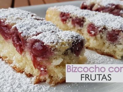 Bizcocho con frutas fácil y rápido - Sin lactosa