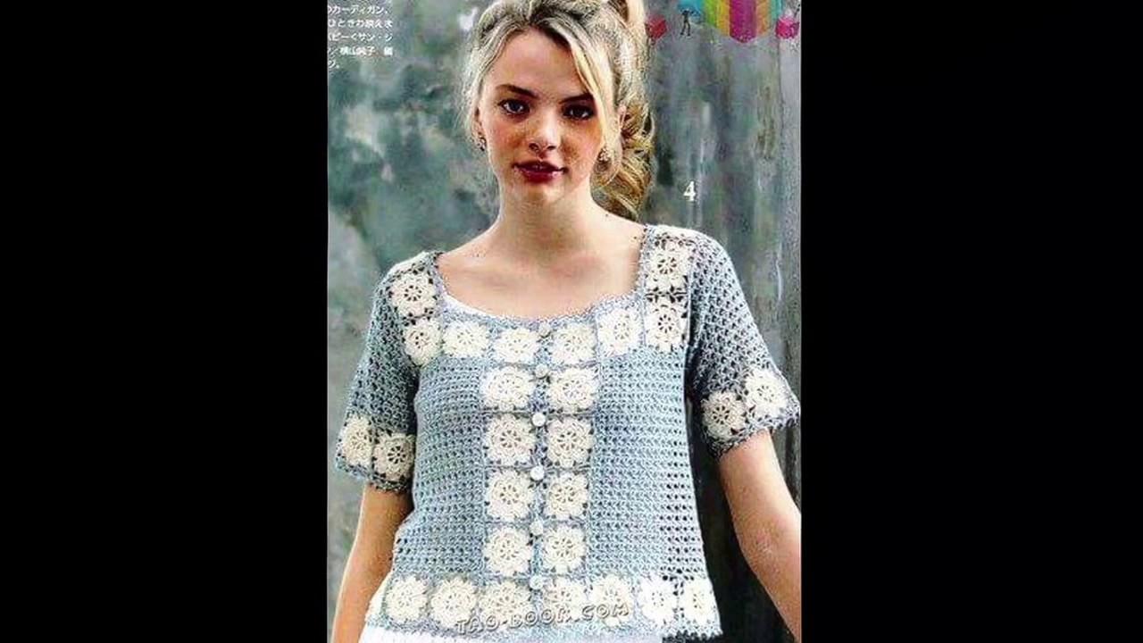 Blusa para Mujer Tejida A Crochet