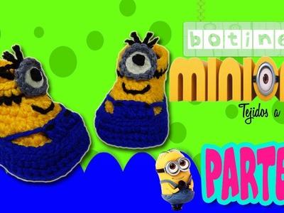 Botas, Botines de Minions Tejidos a crochet | parte 1.2