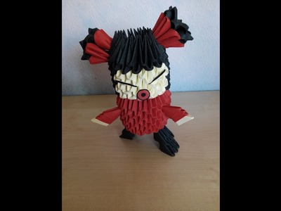 Como hacer a Pucca origami 3d Origami3