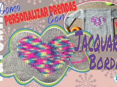 Como personalizar prendas de punto con Jacquard Bordado o Falso Jacquard