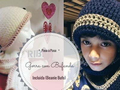 Gorra con Bufanda incluida,( Beaniebufo ) para principiantes