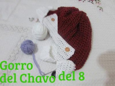 Gorro del Chavo del ocho tejido en crochet. Gorro de aviador,  para niños, fàcil y pràctico