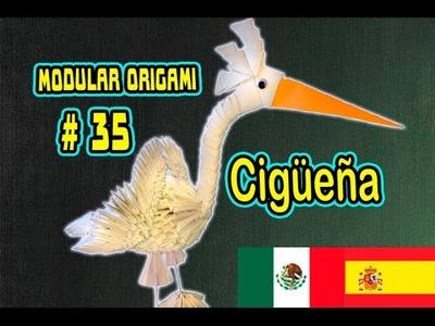 Origami modular #35 Cigüeña