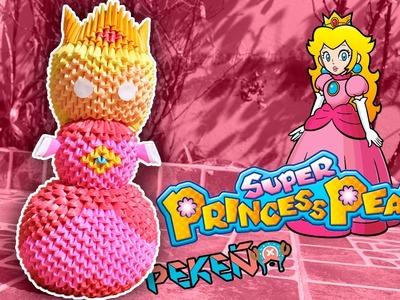 Princess Peach (Mario Bross) 3D Origami | Pekeño ♥