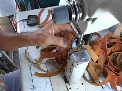 Técnicas de costura para calzado, en maquina de poste
