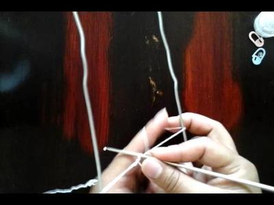 Tejiendo con Horquilla hecha en casa ( parte 1)