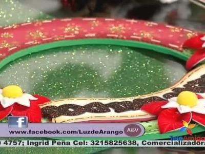 Teleamiga Aprenda y venda Corona de papá Noel en fommy