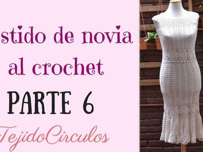 """Vestido de novia """"Sirena"""" tejido al crochet. Parte 6: reducción de la sisa. Tejidos Circulos"""