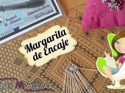 033 Araña Margarita. Curso Completo Encaje de Bolillos - Tutorial Raquel M.Adsuar Bolillotuber