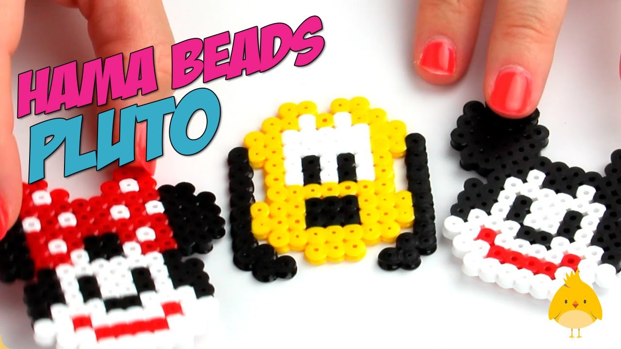 3 creaciones hama beads de Pluto (Parte 3 de 3) en español