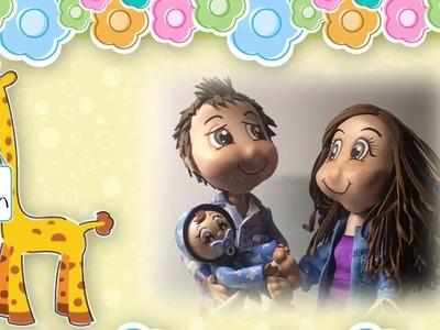 3 Parte Creaciones Mamen Aula Virtual Gratis paso a paso cómo hacer una familia en gomaeva (foamy)