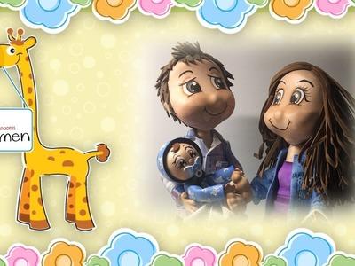 5 Parte Creaciones Mamen Aula Virtual Gratis paso a paso cómo hacer una familia en gomaeva (foamy)
