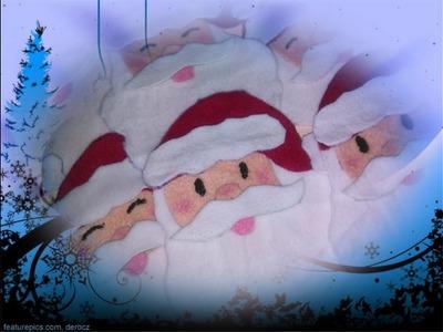 Adorno navideño , santa clausツ facil y economico¡¡
