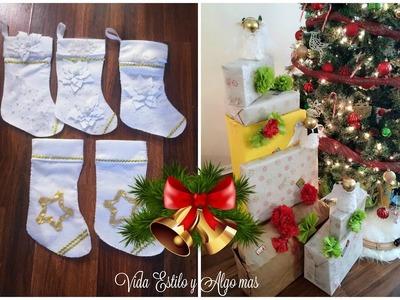"""Adornos de Navidad""""Angeles y Botas navideñas"""""""