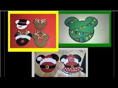 Adornos Navideños  de Mickey Mouse. Mickey Mouse Christmas Ornaments