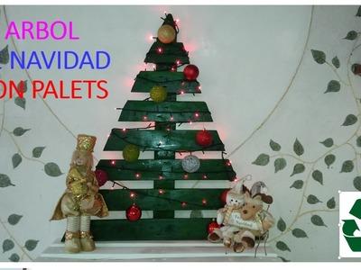 ARBOL DE NAVIDAD CON PALETS. PALLET CHRISTMAS TREE