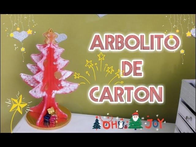 ÁRBOL DE NAVIDAD HECHO EN CARTÓN
