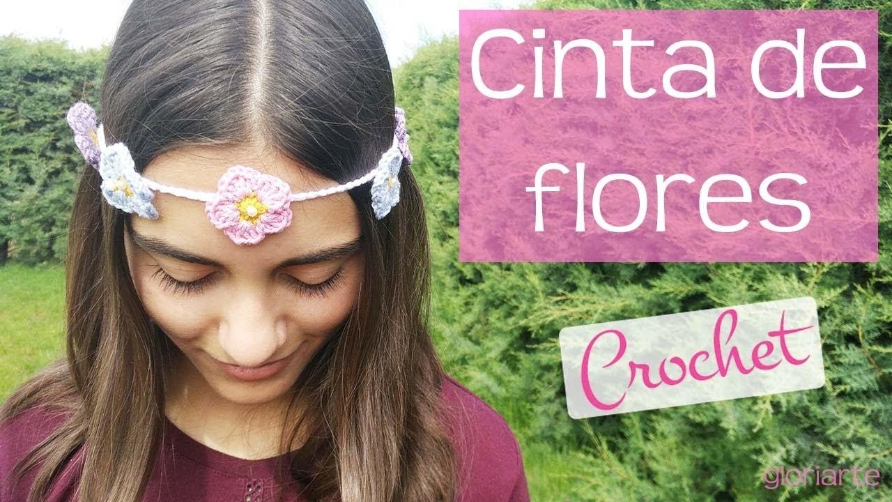Cinta de flores para el pelo. Ribbon of flowers for the hair.