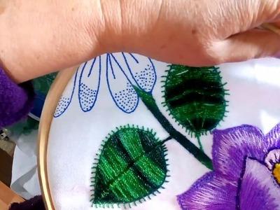 Como bordar hojas facilmente Sonia R.A.
