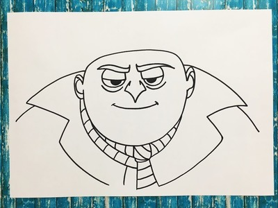 Como Dibujar a Gru (Mi Villano Favorito) | How to Draw Gru (Despicable Me)
