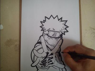 COMO DIBUJAR A NARUTO. how to draw naruto