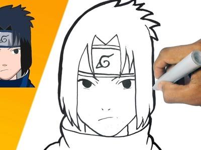 Como dibujar a Sasuke - Naruto paso a paso | how to draw Zasuke - Naruto