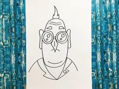 Como Dibujar al Dr Nefario (Mi Villano Favorito) | How To Draw Dr Nefario (Despicable Me)