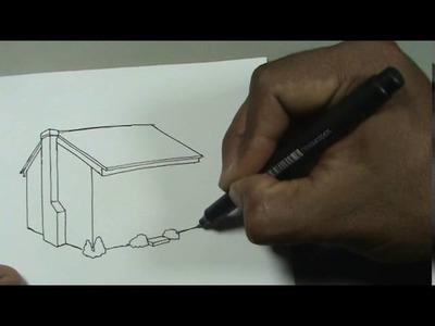 Cómo dibujar fácil la casa de Los Simpson