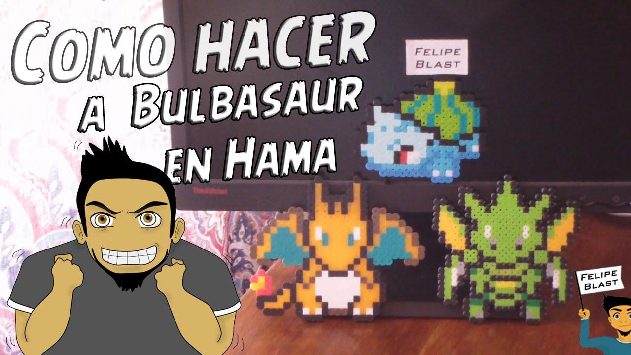 Como hacer a Bulbasaur con Hama Beads (Bulbasaur pixel Art) por FelipeBlast